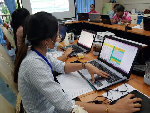 อบรมการพัฒนาโปรแกรมจัดทำแบบบันทึกผลการประเมินพัฒนาการการศึกษาปฐม